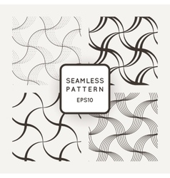 Set of seamless pattern of wavy lines and vector image