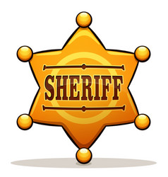 sheriff badge color design vector image