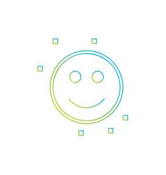 smile emoji icon vector image