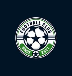 Soccer football club logo design vector