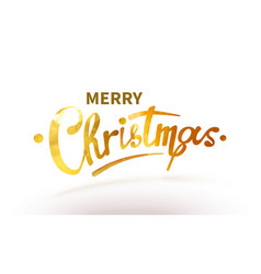 stock text merry christmas vector image