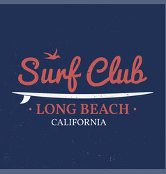 Surf club concept vector