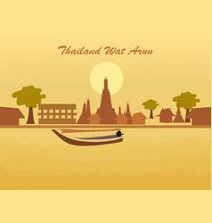thailand amazing tourism wat arun temple gold vector image