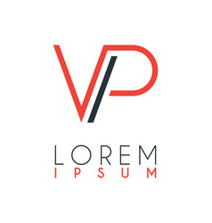 The logo between letter v and letter p or vp vector