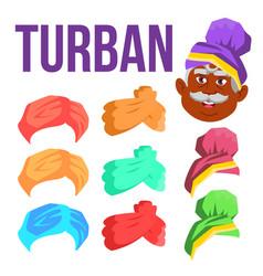 turban indian arabic head cap hat vector image