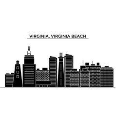 Usa virginia virginia beach architecture vector
