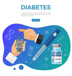 vaccination diabetes immunization banner vector image