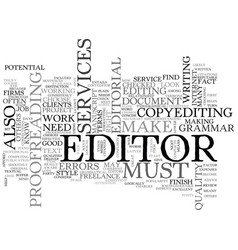 what you should know about editorial services vector image