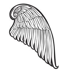 Wings bird black white 666 vector
