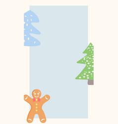 Winter season social media simple story template vector