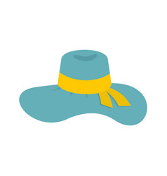 woman hat icon flat style vector image