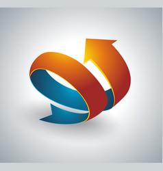 icon pointer spiral arrow 3d vector image