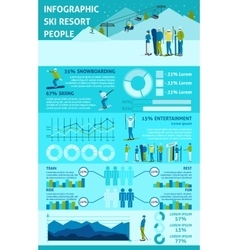Infographic Winter Active Rest In Mountains vector image vector image