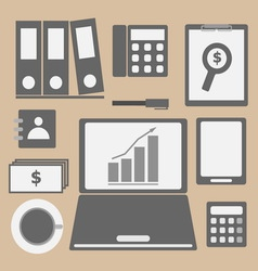 Internet investor at home office icon vector image vector image