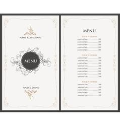 menu in retro style vector image