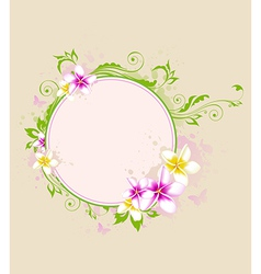 Tropical banner with flowers vector image vector image