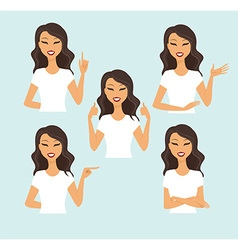Young woman gesturing vector image vector image