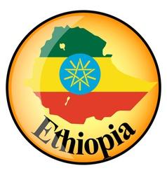 button Ethiopia vector image