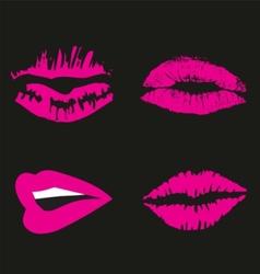 Pink Lips logo icon symbol free vector image vector image