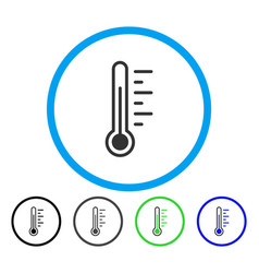 temperature level rounded icon vector image