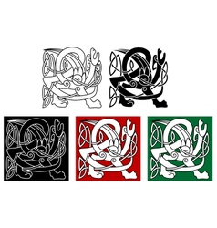 Abstract celtic gryphon vector image vector image
