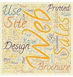 How To Know What To Pay For Web Design text vector image vector image
