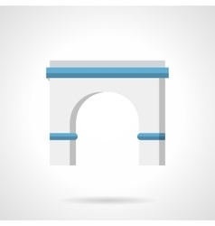 Architecture arch flat color icon vector image vector image