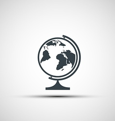 icons of school globe vector image vector image