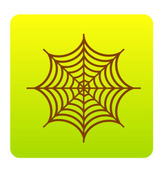 spider on web brown icon at vector image vector image