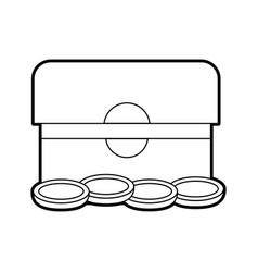 treasure chest box present gift jesus christmas vector image vector image