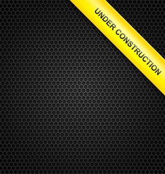 under construction line background vector image