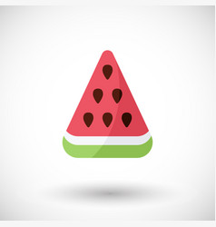 watermelon flat icon with round shadow vector image vector image