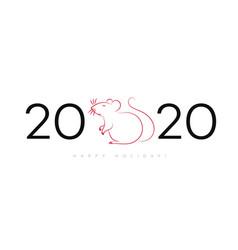 2020 happy new year celebration background vector image