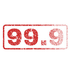 999 rubber stamp vector image