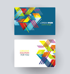 abstract geometric creative business cards vector image