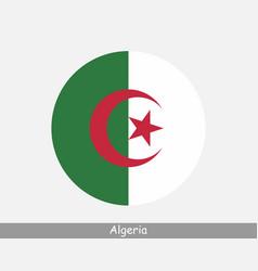 Algeria round circle flag vector