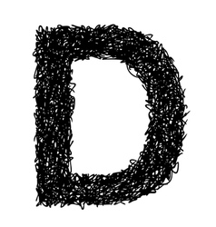 alphabet D vector image