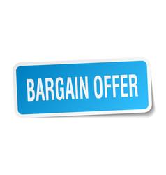 Bargain offer square sticker on white vector