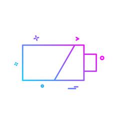 Battery icon design vector