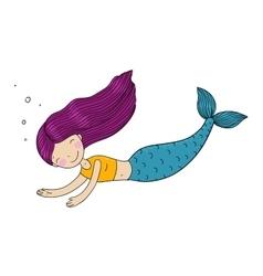 Beautiful little mermaid vector