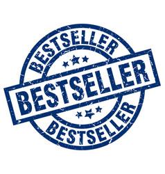 Bestseller blue round grunge stamp vector