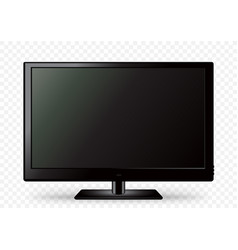 black tv icon white transparent vector image
