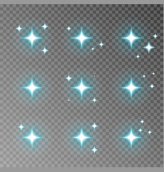 blue twinkle sparkle isolated on transparen vector image