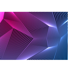blue ultraviolet neon curved lines abstract vector image