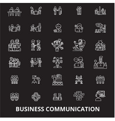 business communication editable line icons vector image