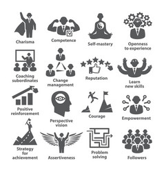 business management icons pack 45 icons for vector image