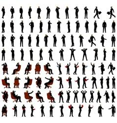 Businessmen silhouette set vector image vector image