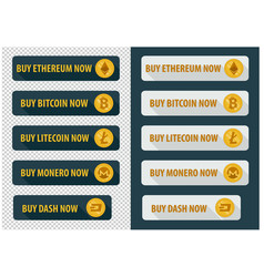 Buy bitcoins now icons in a flat style vector