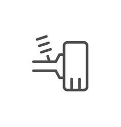 car suspension line icon vector image