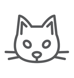 cat line icon animal and zoo pet sign vector image